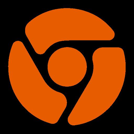 Icône Chrome (symbole png) orange
