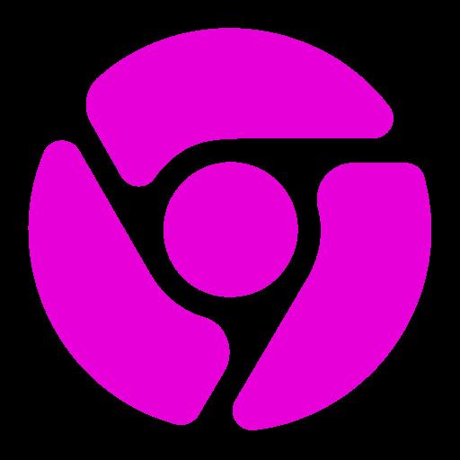 Icône Chrome (symbole png) rose