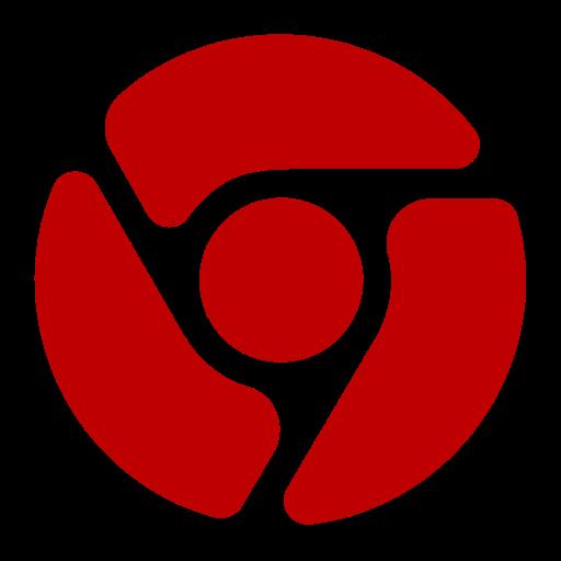 Icône Chrome (symbole png) rouge