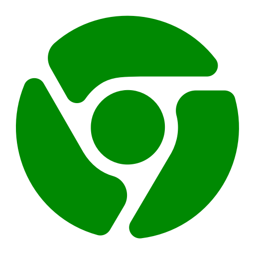 Icône Chrome (symbole png) verte