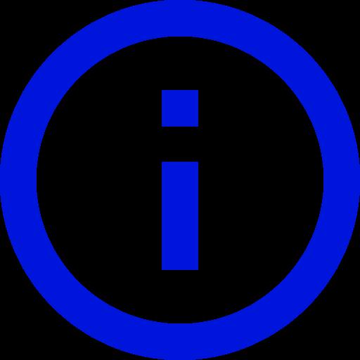 Icône d'information (symbole png) bleu