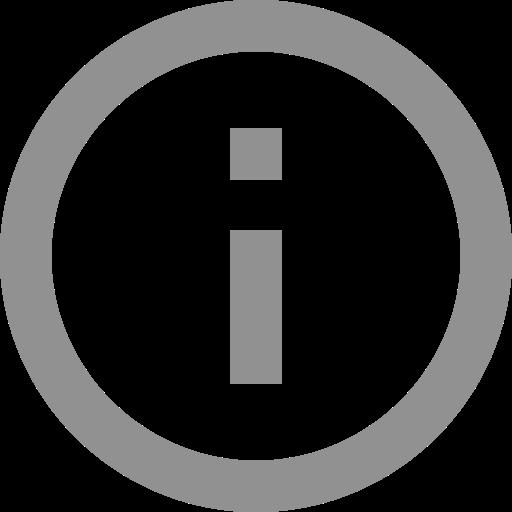 Icône d'information grise (symbole png)