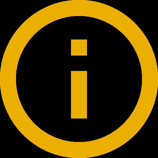Icône d'information jaune (symbole png)