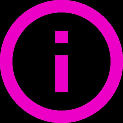Icône d'information (symbole png) rose