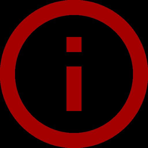 Icône d'information (symbole png) rouge