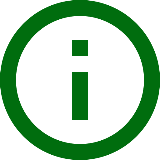 Icône d'information (symbole png) vert