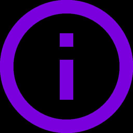 Icône d'information violette (symbole png)
