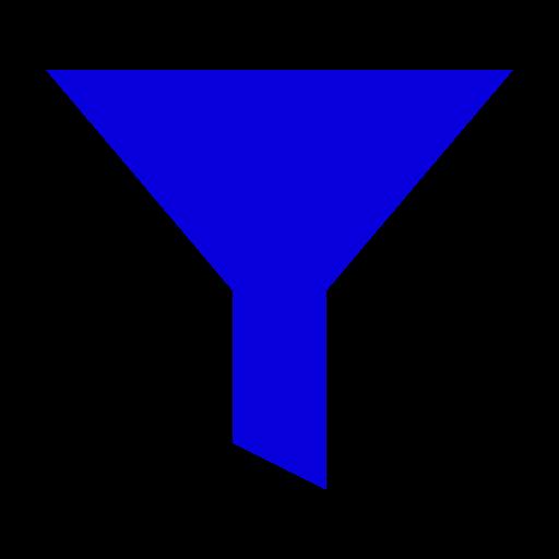 Icône de filtre bleu (symbole png)