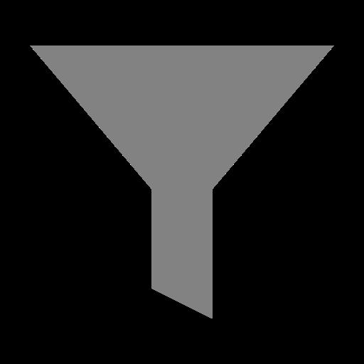 Icône de filtre gris (symbole png)