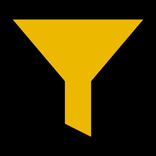 Icône de filtre jaune (symbole png)