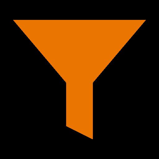 Icône de filtre orange (symbole png)