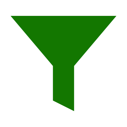 Icône de filtre vert (symbole png)