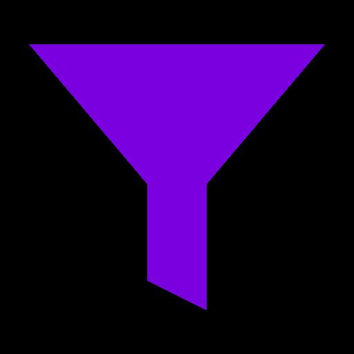 Icône de filtre violet (symbole png)