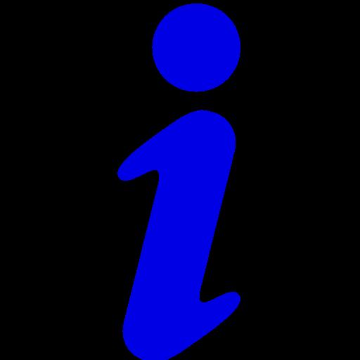 Icône de lettre d'information I (symbole png) bleu