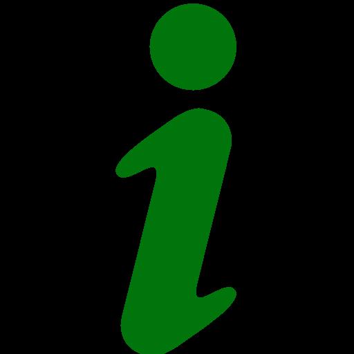 Icône de lettre d'information I (symbole png) vert