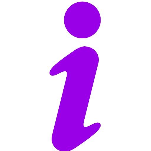 Icône de lettre d'information I (symbole png) violet