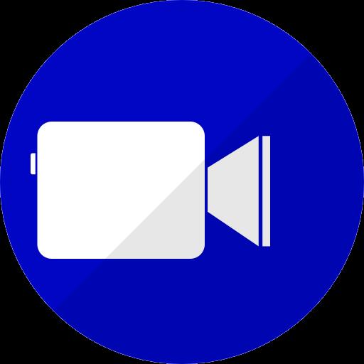 Icône Facetime bleue (logo png)