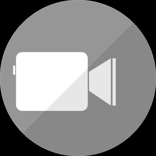 Icône Facetime (logo png) grise