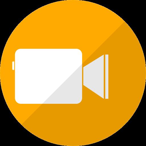 Icône Facetime jaune (logo png)