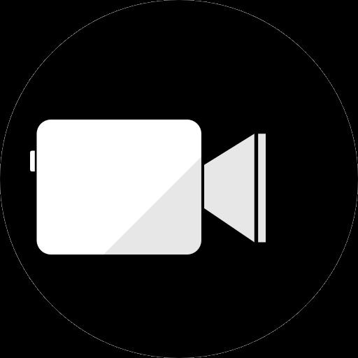 Icône Facetime (logo png) noir