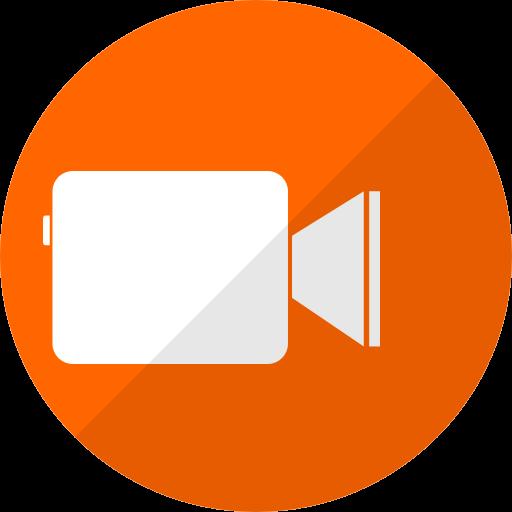 Icône Facetime (logo png) orange
