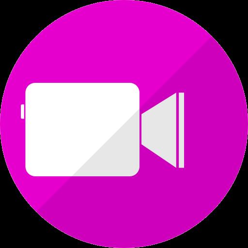 Icône Facetime (logo png) rose