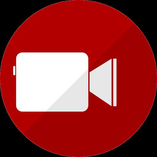 Icône Facetime (logo png) rouge