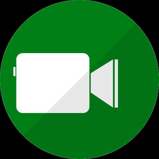 Icône Facetime (logo png) verte