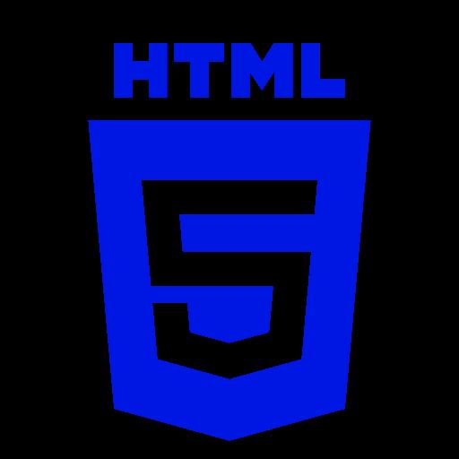 Icône HTML bleue (symbole du logo png)