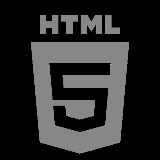 Icône HTML grise (symbole du logo png)
