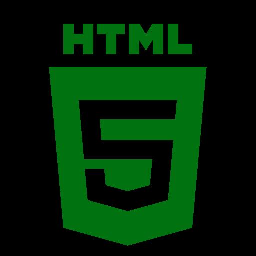 Icône HTML (symbole du logo png) verte
