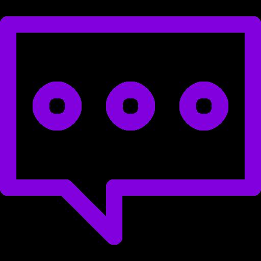 Symbole de chat (icône png) violet