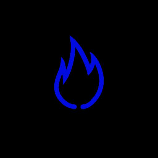 Symbole de feu bleu (icône png)