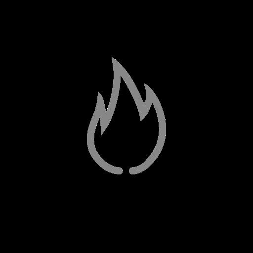 Symbole de feu (icône png) gris