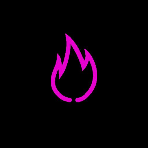 Symbole de feu (icône png) rose