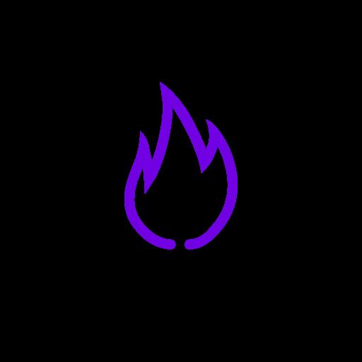 Symbole de feu violet (icône png)