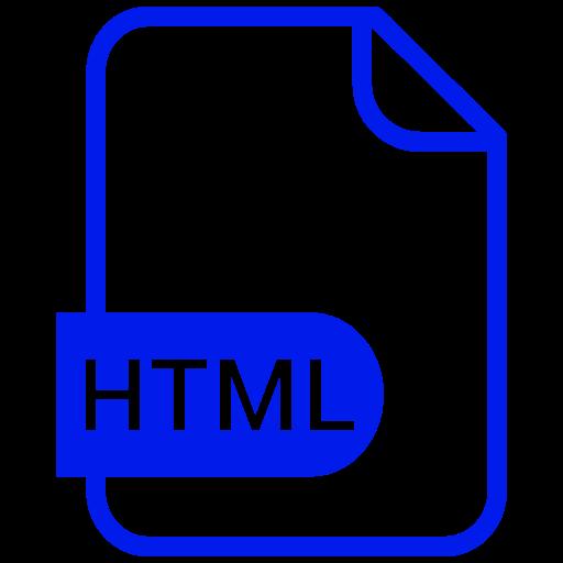 Symbole HTML bleu (symbole png)