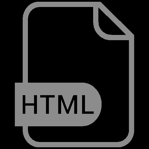 Symbole HTML gris (symbole png)