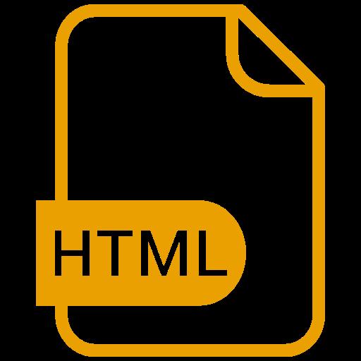 Symbole HTML jaune (symbole png)