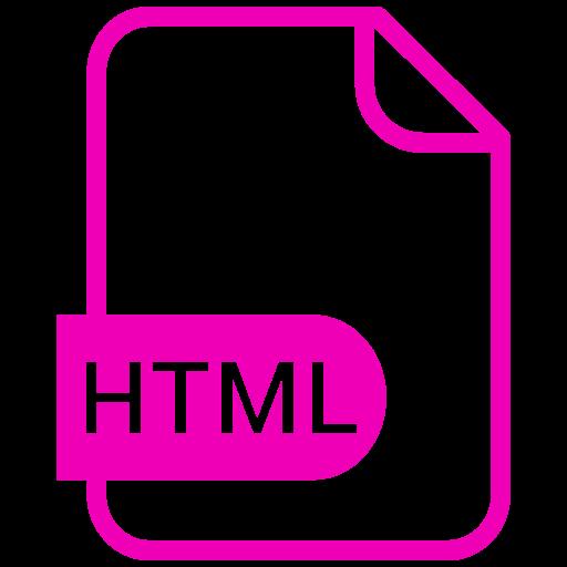Symbole HTML rose (symbole png)