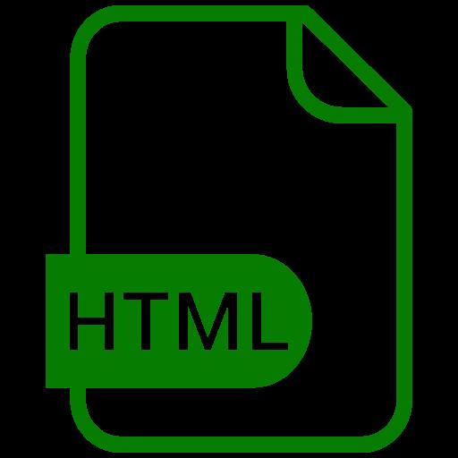 Symbole HTML vert (symbole png)