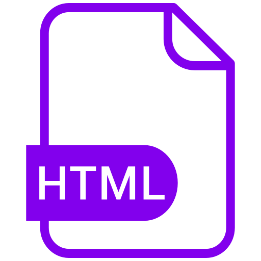 Symbole HTML violet (symbole png)