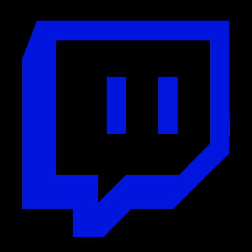 Symbole Twitch (logo et icône png) bleu