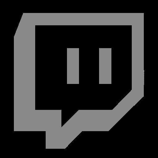 Symbole Twitch (logo et icône png) gris