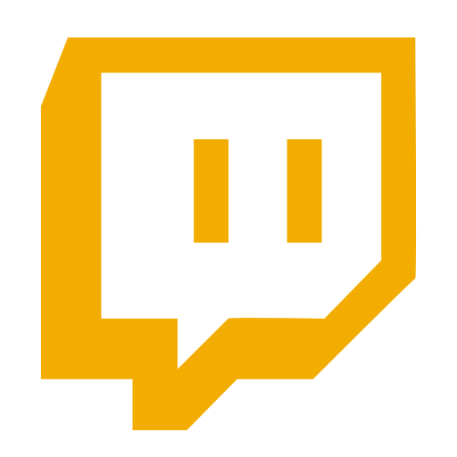 Symbole Twitch (logo et icône png) jaune