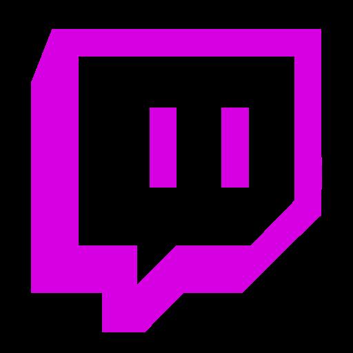Symbole Twitch (logo et icône png) rose
