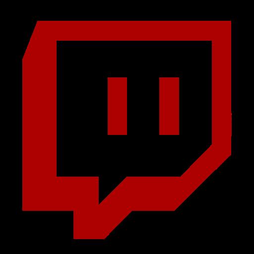 Symbole Twitch (logo et icône png) rouge