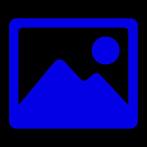 Icône d'image bleue (symbole png)