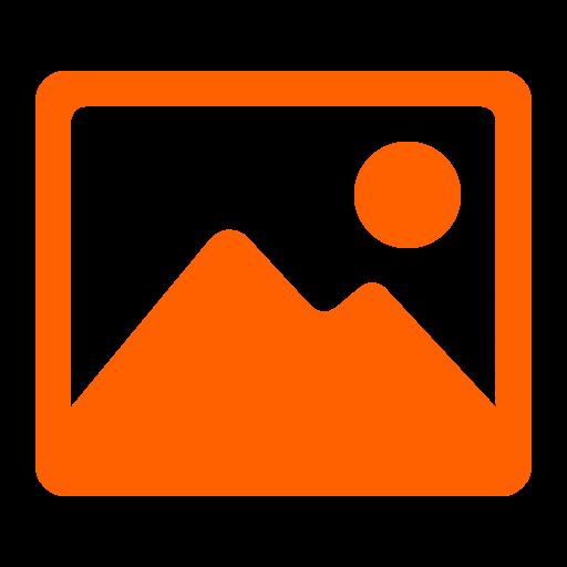 Icône d'image (symbole png) orange