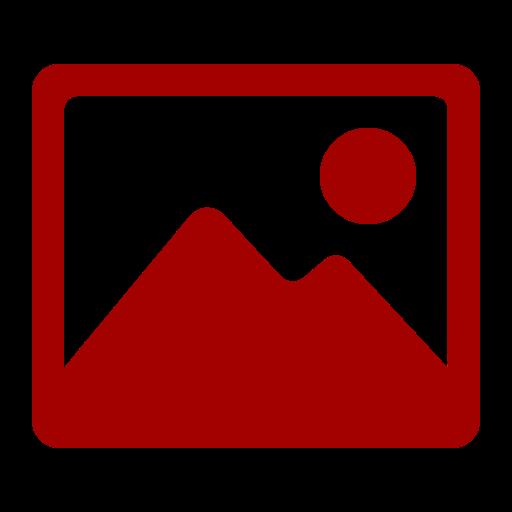 Icône d'image rouge (symbole png)